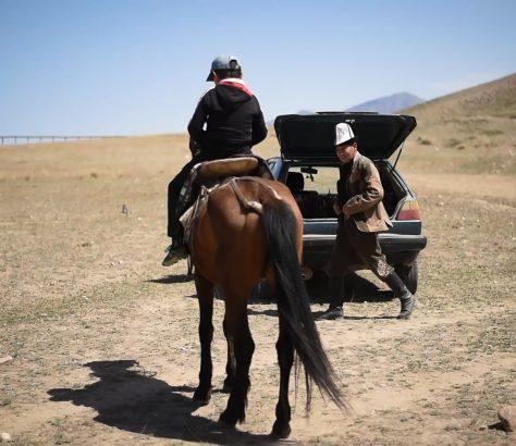 Chasse à l'aigle Kirghizstan Faucon Antoine Béguier