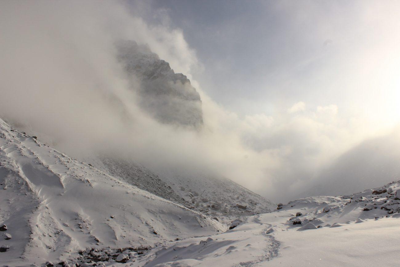 Parc naturel d'Ala Archa Kirghizstan neige
