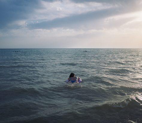 Mer caspienne Kazakhstan Baignade Tien Tran