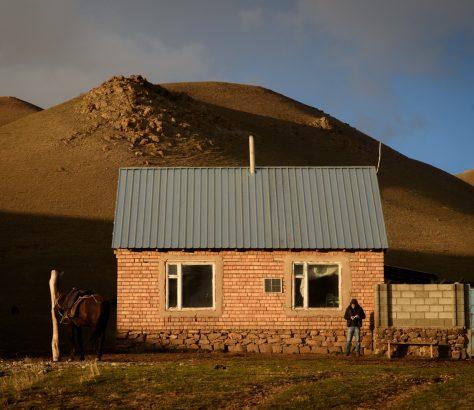 Lac Song Koul Kirghizstan Élevage