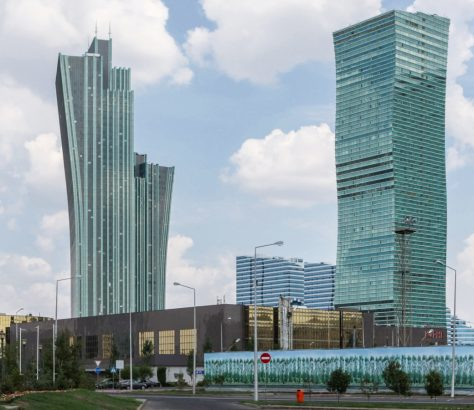 Vue Astana Capitale Kazakhstan Administrations Pays