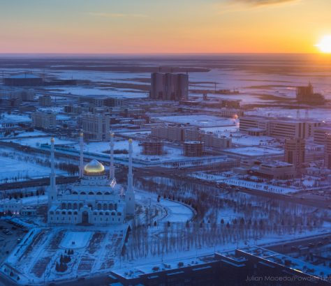 Mosquée de Nour-Astana Kazakhstan Astana Hiver
