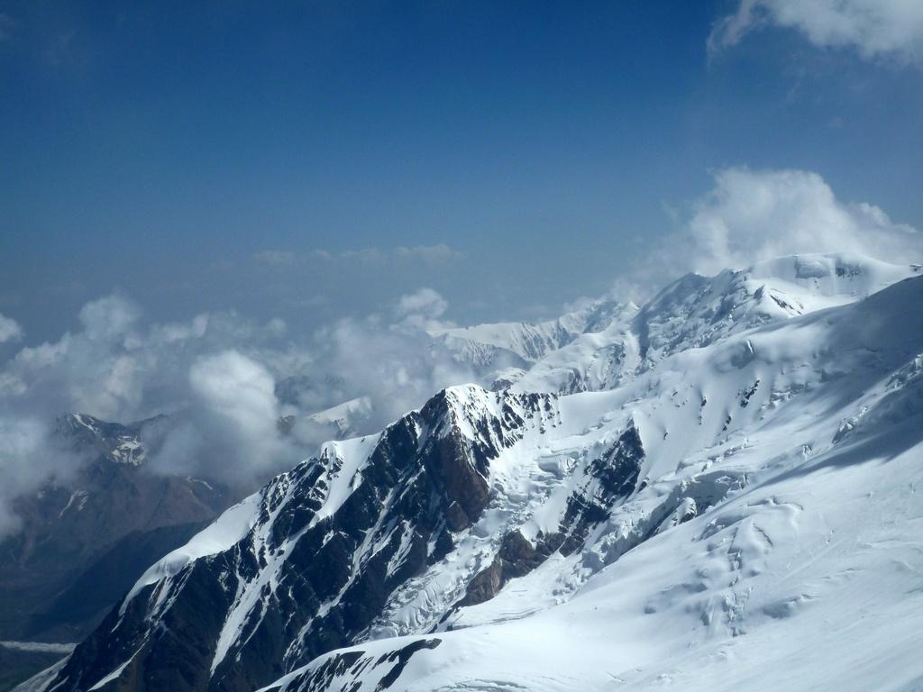 Glaciers Pic Lénine Kirghizstan Fonte Eau