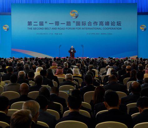Pékin Chine Noursoultan Nazarbaïev Cérémonie Ouverture Forum Belt Road