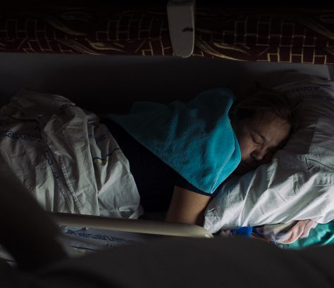 Femme Endormie Train Kazakhstan Photo du jour Tien Tran