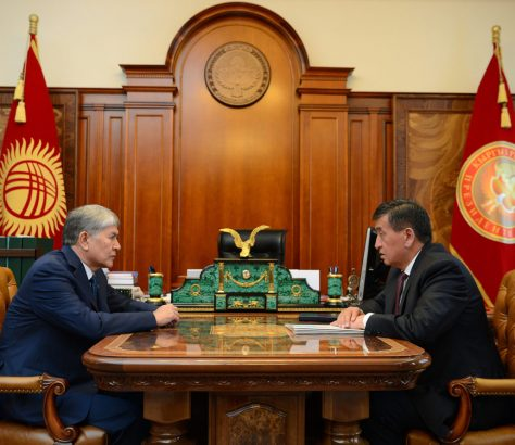 Almazbek Atambaïev Sooronbaï Jeenbekov Kirghizstan Politique Justice Immunité Président