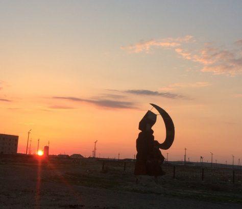 Marteau faucille reliques kazakhstan Photo du Jour