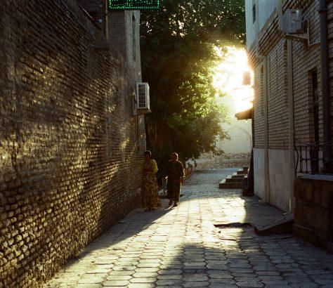 Femme Lumière Boukhara Ouzbékistan Photo du Jour