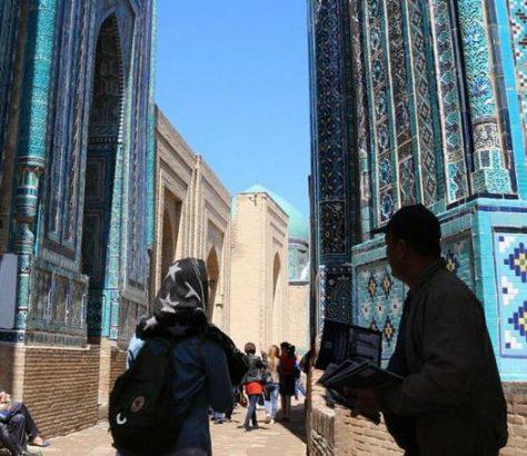Photo Samarcande Ouzbekistan touristes