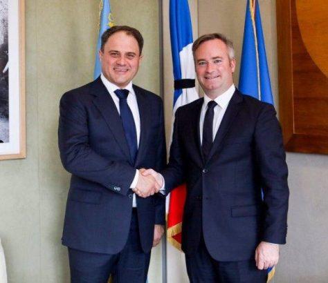 Roman Vassilenko Jean-Baptiste Lemoyne France Kazakhstan Diplomatie Rencontre