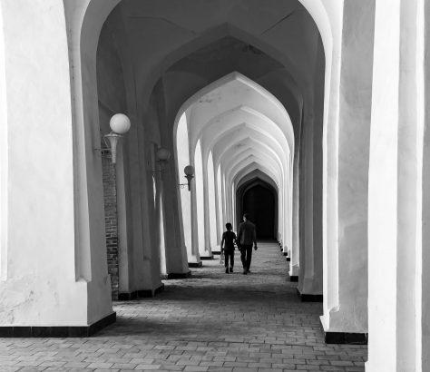 Colonnade Boukhara Mosquée Kalon Tanya Zavkieva