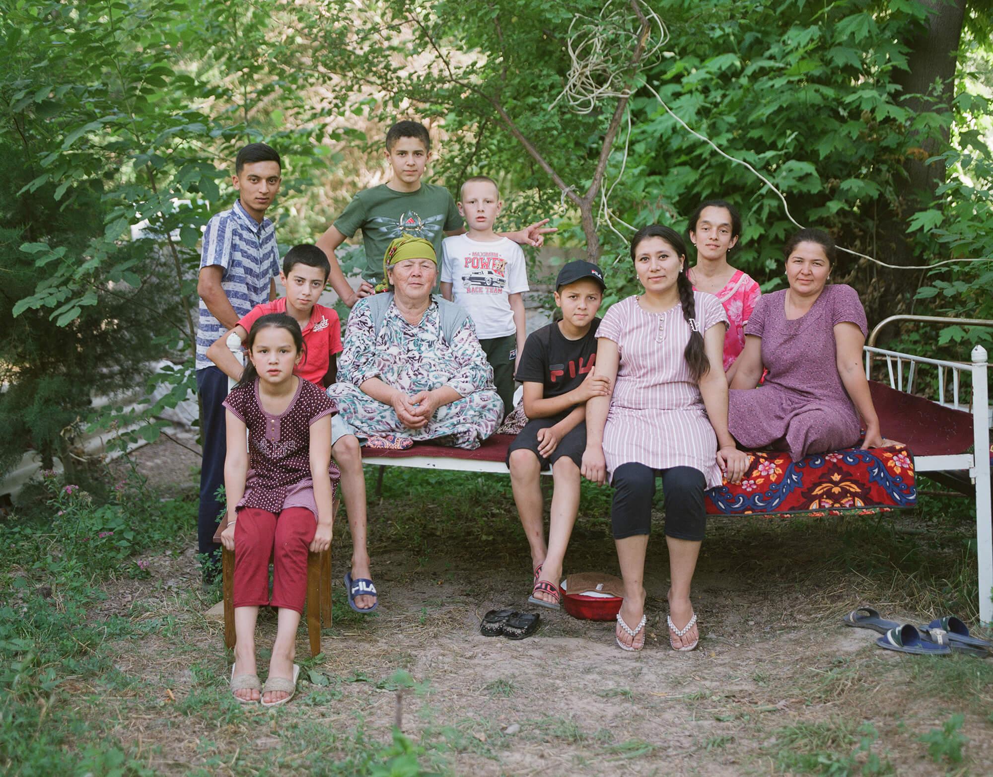 Famille Ouzbékistan Taptchan Portrait Hassan Kurbanbaev