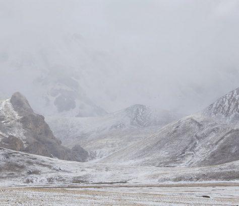 Kirghizstan Naryn transhumance Hiver neige