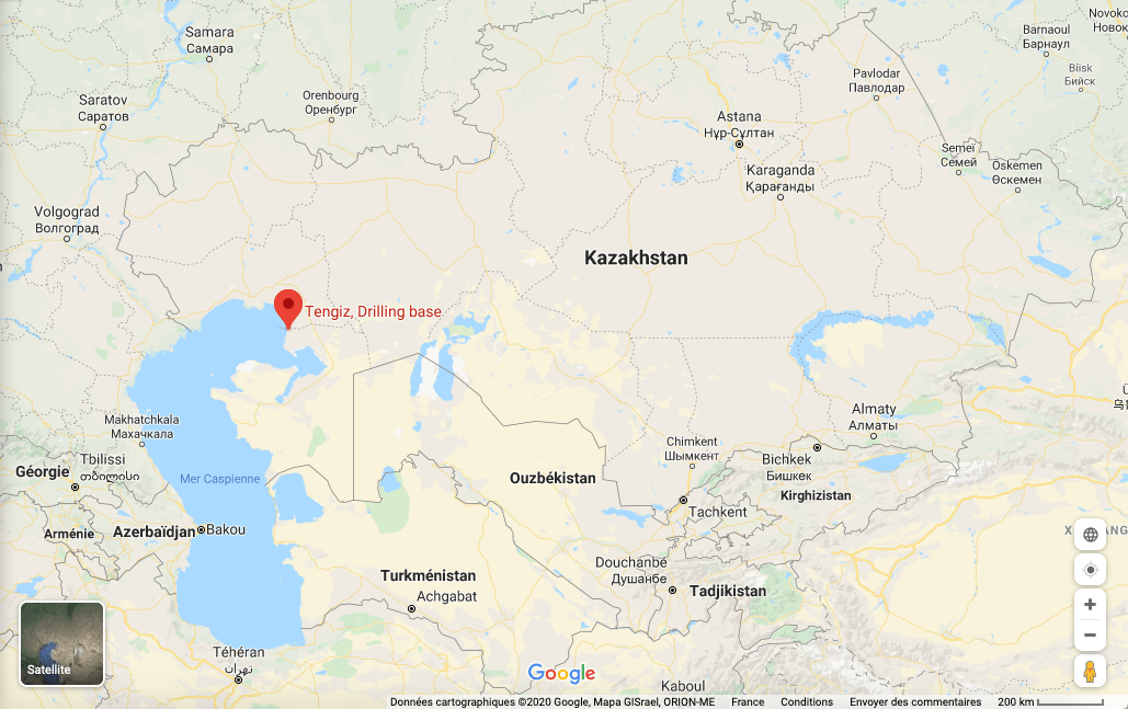 Carte Tengiz Kazakhstan