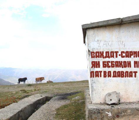 Arrêt de bus Pamir Tadjikistan
