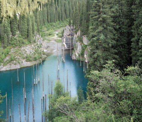 Kazakhstan Lac Kaindy Tian Shan
