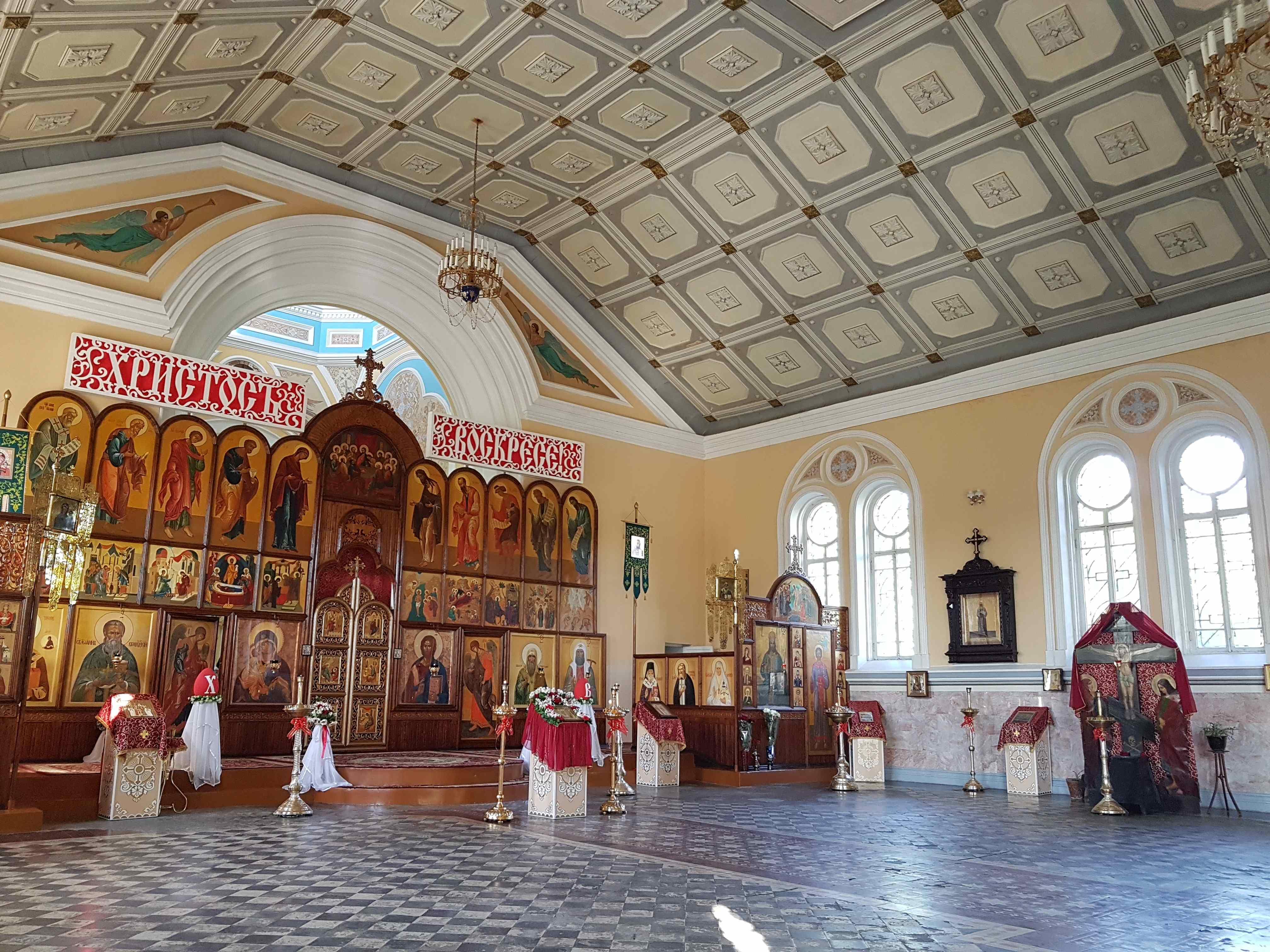 Cathédrale Saint-Alexis Samarcande Ouzbékistan Eglise orthodoxe Intérieur