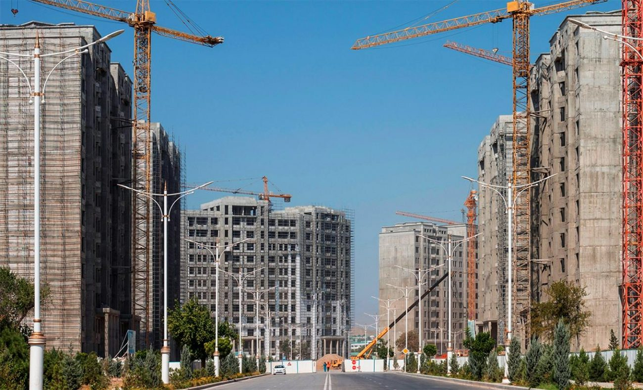 Achgabat Turkménistan Démographie Travaux Million