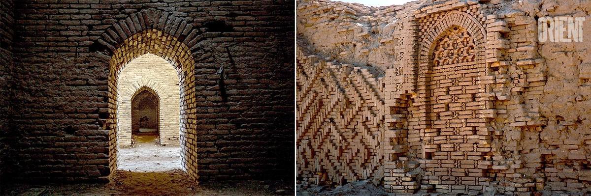Turkménistan Dayahatyn Caravansérail Façade Briques