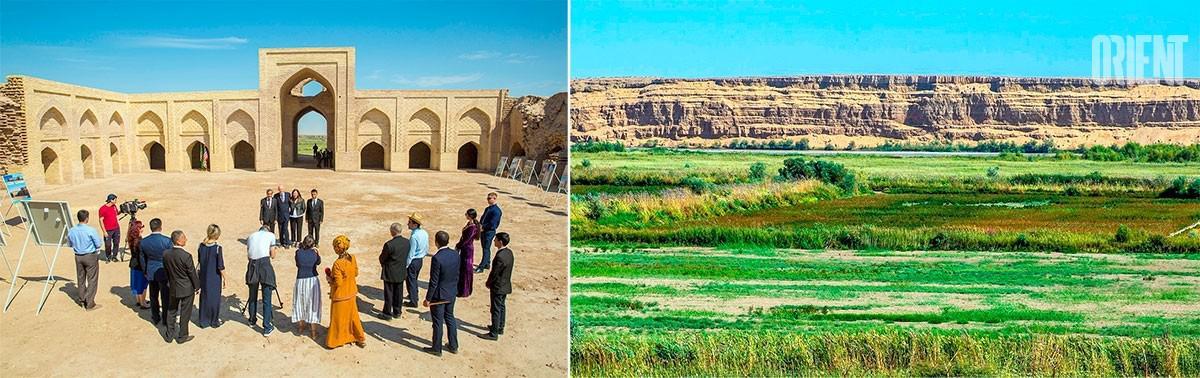 Turkménistan Dayahatyn Caravansérail Extérieur Touristes