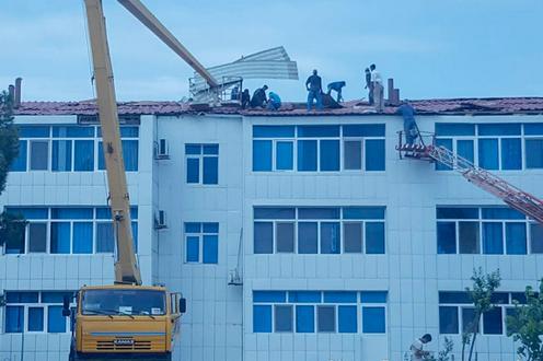 Turkménistan Lebap Tempête Catastrophe Naturelle Manifestation Protestation