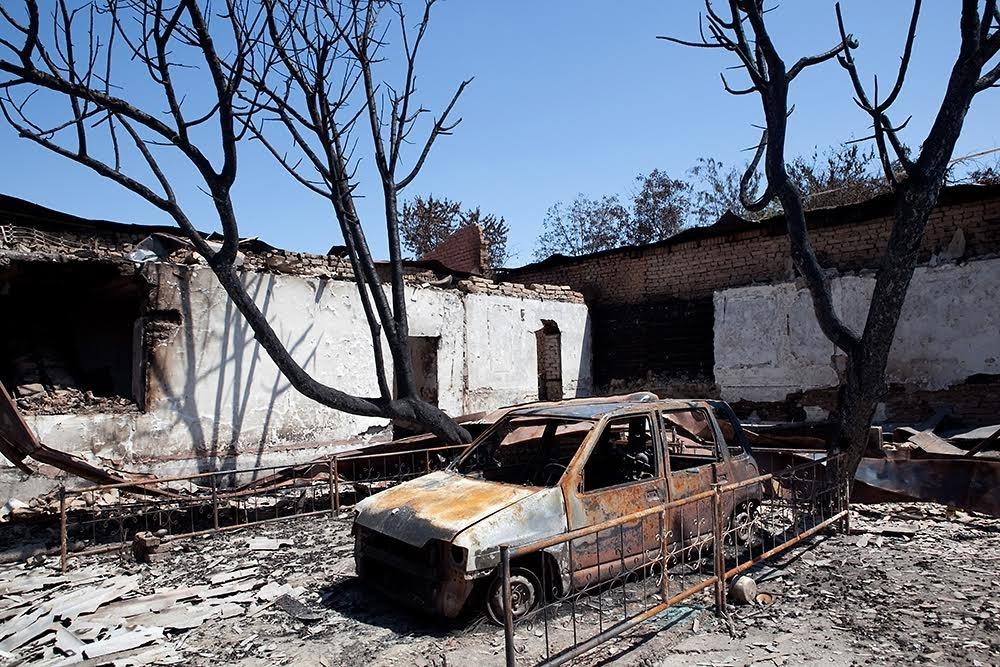 Kirghizstan Och Emeutes Juin 2010 Destructions