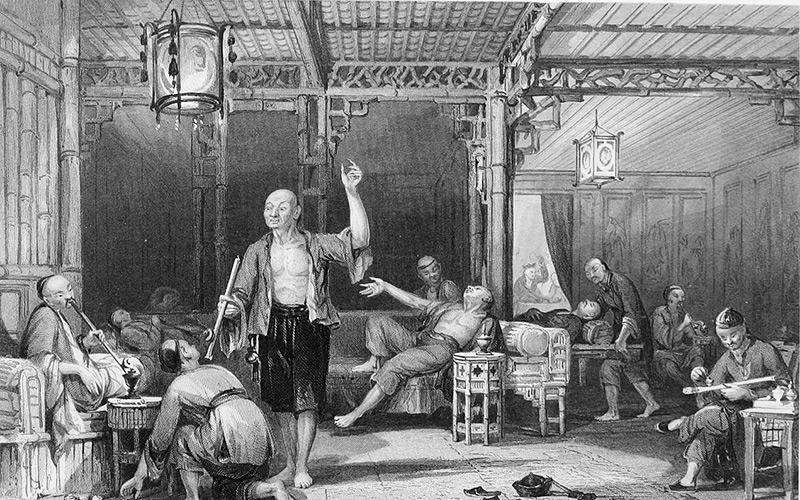 Asie centrale Opium Drogue histoire Conflits pavot fumerie trafic