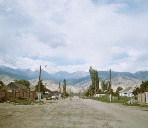 Kirghizstan Tamga Issyk-Koul Montagne