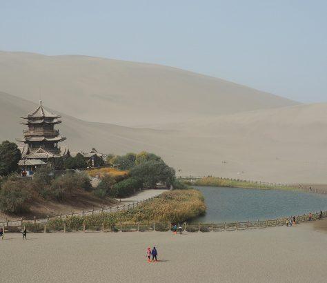 Oasis Yueyaquan Dunhuang, le désert Taklamakan Chine Routes de la Soie Histoire Lettres sogdiennes