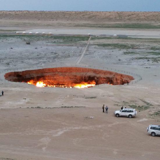 Turkménistan Darvaza Cratère Gaz Tourisme