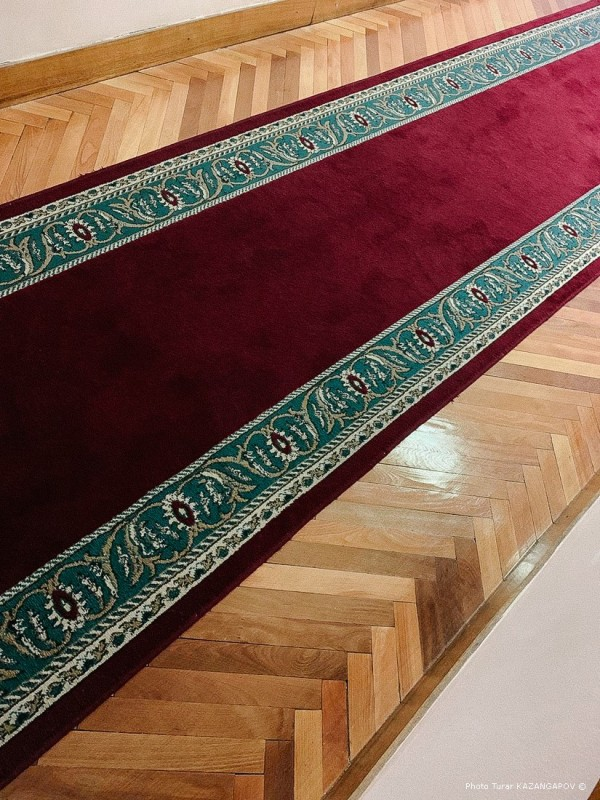 Intérieur, tapis, hôtel, Kazakhstan, Kourtchatov
