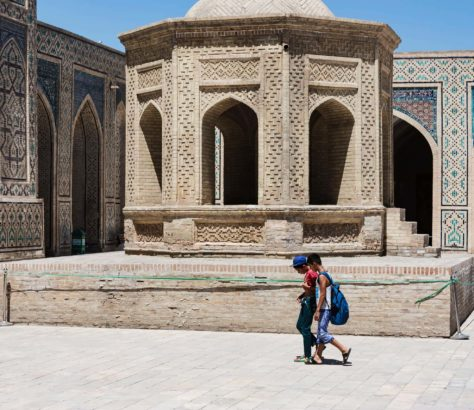 Ouzbékistan Boukhara Mosquée Kalon Passé soviétique Tanya Zavkieva