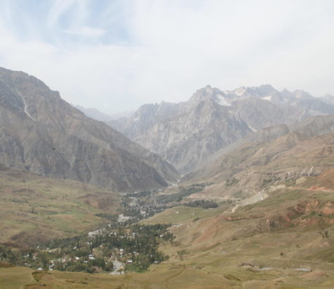 Tadjikistan Douchanbé Paysage Montagnes
