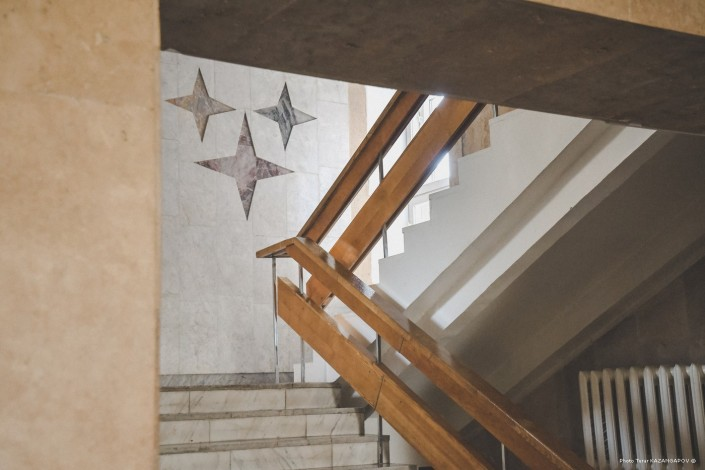 Escalier, hôtel, Kazakhstan, Kourtchatov