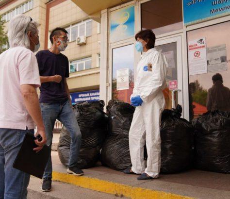Kazakhstan Coronavirus Covid-19 Aide Médecins AqJurek Citoyens Entraide