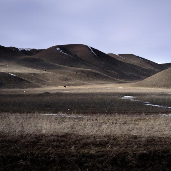 Paysage Kirghizstan lumière
