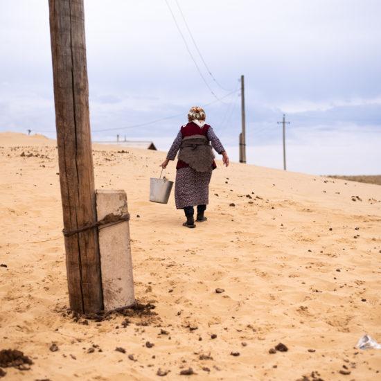 Mer d'Aral Kazakhstan Village Babouchka