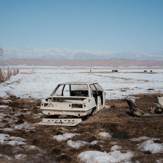 Ak-Talaa Kirghizstan Voiture neige