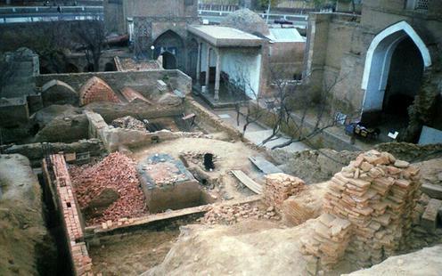 Samarcande Chah-e-Zindeh Nécropole Restauration Patrimoine Dommages Ouzbékistan