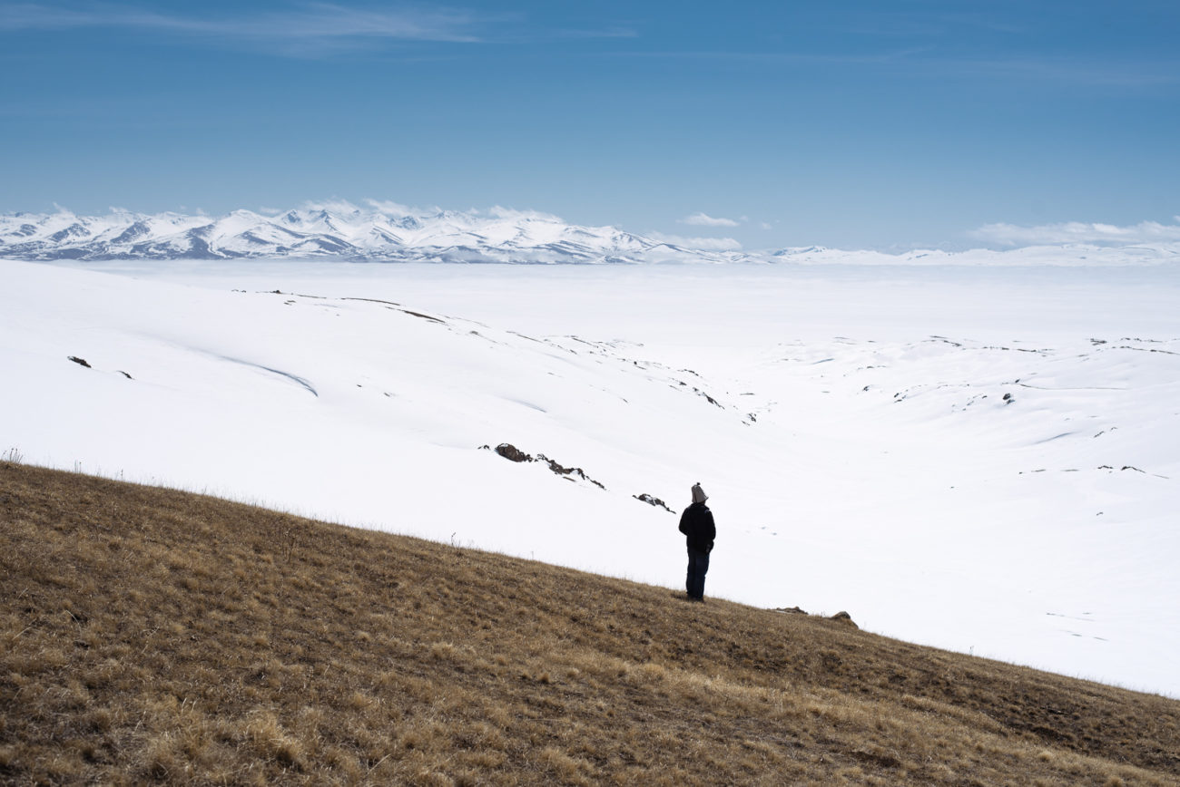 Neige Kirghizstan Songkoul lac