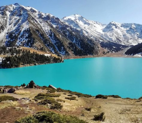 Kazakhstan Grand Lac d'Almaty Photo du Jour