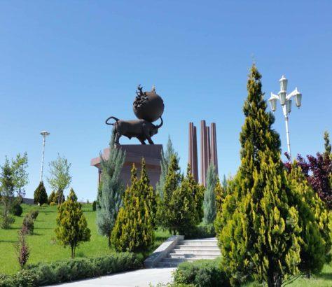 Turkménistan Achgabat Niazov Mémorial tremblement de terre