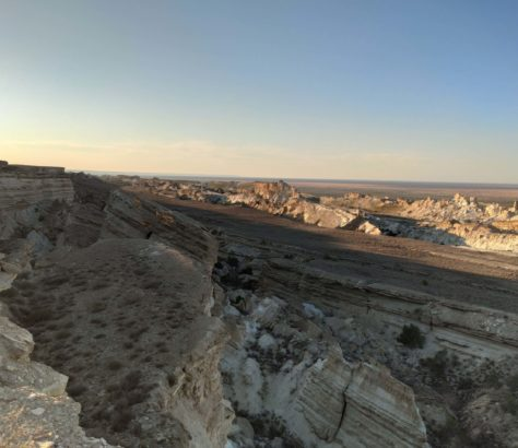 Plateau Oust-Ourt mer d'Aral Karakalpakstan