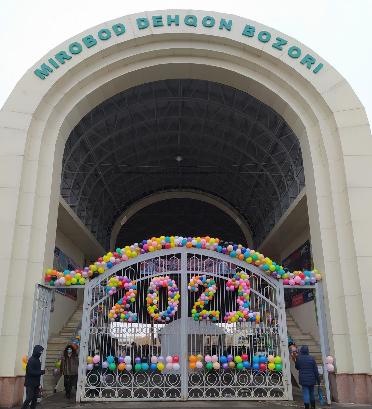 ouzbékistan Tachkent nouvel an 2021 hiver bazar