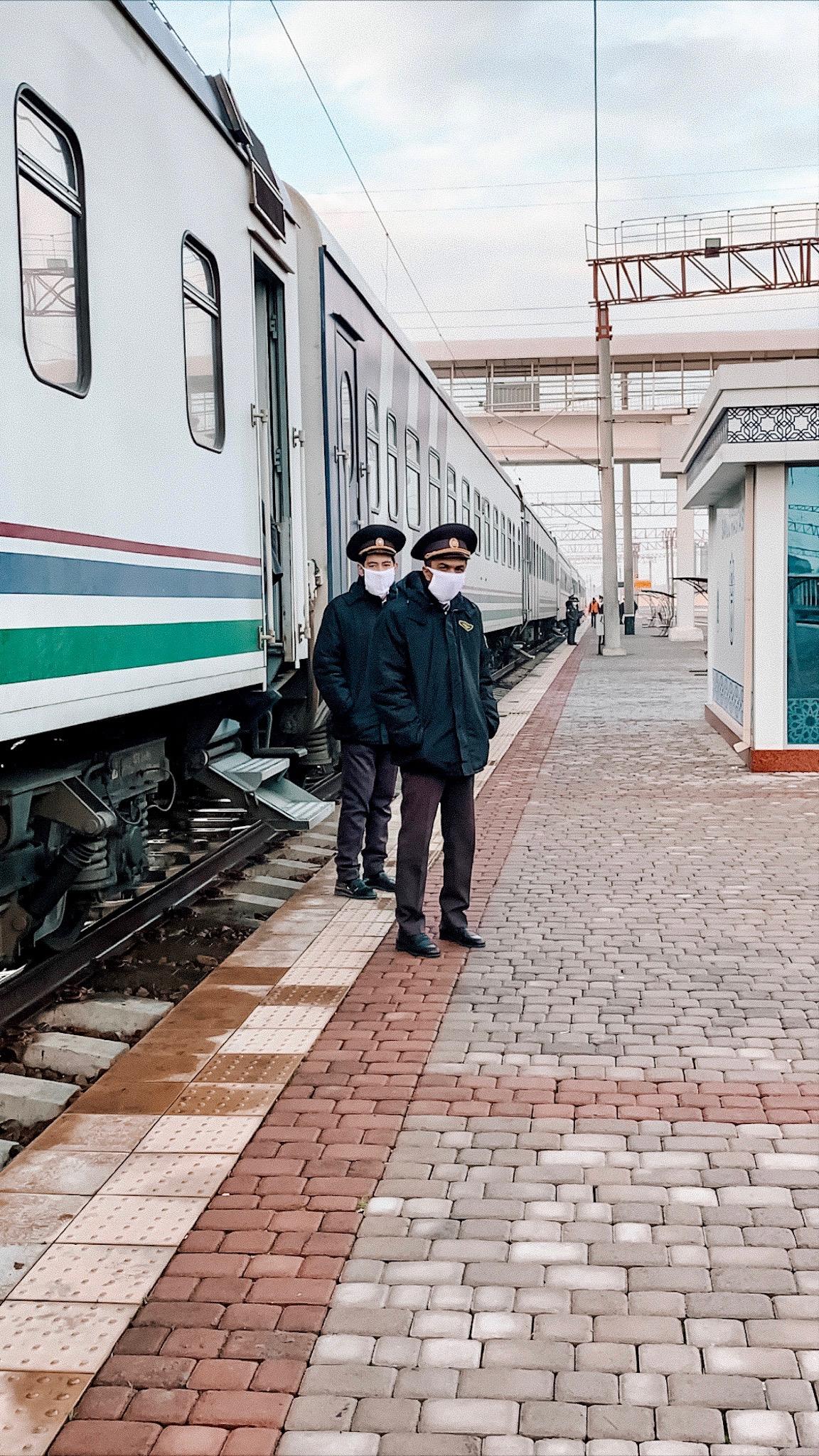 Photo du jour Ouzbékistan Tachkent Train Covid-19