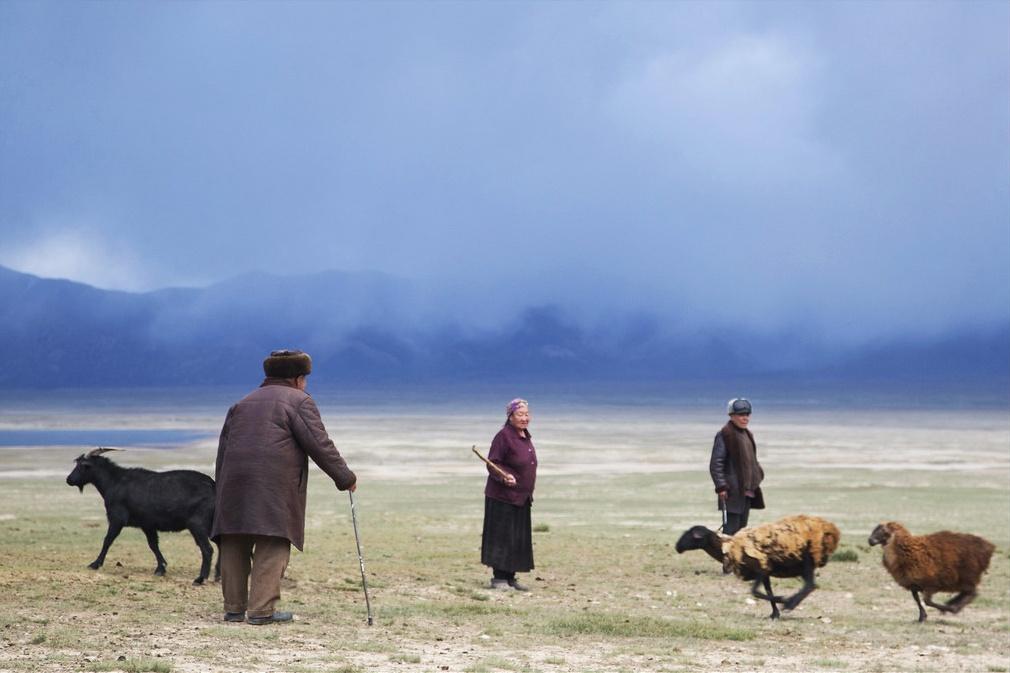 Photo du jour Kirghizstan Steppe Village Yourte