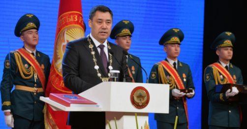 Sadyr Japarov Président Kirghizstan