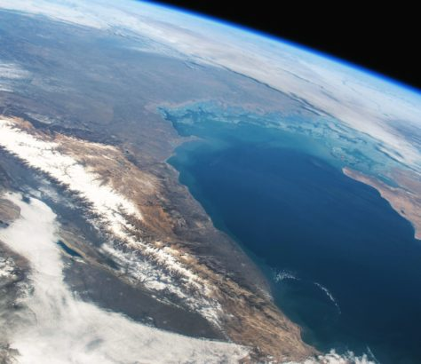 mer caspienne espace asie centrale carte