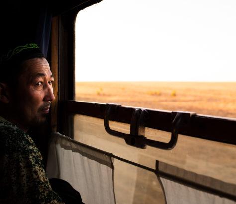 Photo du Jour Antoine Béguier Kazakhstan Train Steppe