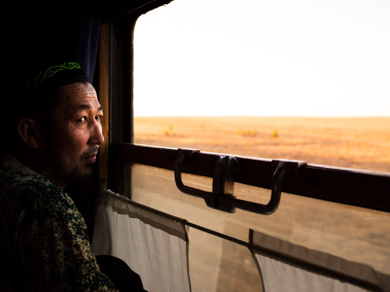 Photo du Jour Antoine Béguier Kazakhstan Train Steppe